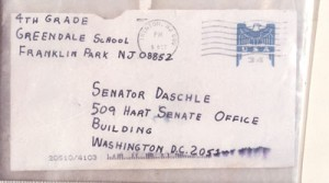 Anthrax letter sent to Sen. Daschle/fbi photo