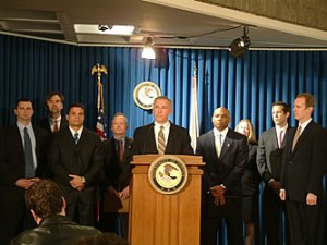 Feds Hold Press Conference in 2005 After Arrest of Noorza/dea photo