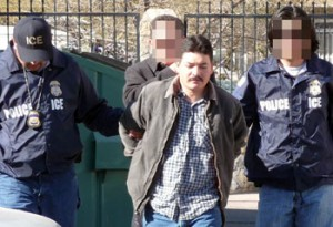 An illegal immigrant deported to Mexico on Tuesday