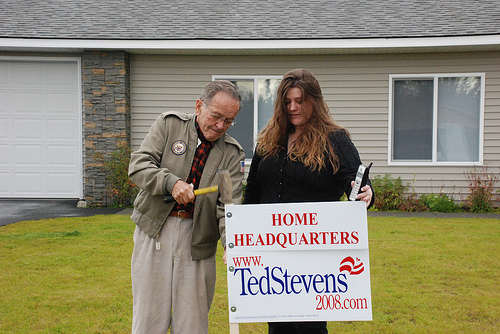 Ex-Sen. Ted Stevens during his last campaign