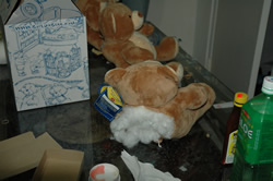 heroin stuffed in teddy bear/dea photo