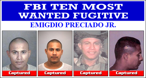 Authorities Capture FBI Top 10 Most Wanted Fugitive In Mexico Preciado Captured2