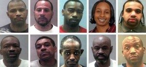 Some Suspected Members of the Black Guerilla Gang/photo Baltimore City Paper
