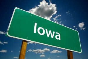 Iowa Road Sign