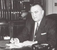 Former FBI Director J. Edgar Hoover