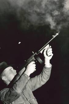 Agent George H. Franklin at shooting range/photo from Wack's website