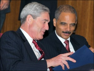 Robert Mueller and Eric Holder in 2009/fbi photo
