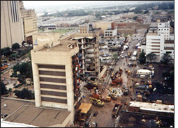 Federal Building in Oklahoma at time of explosion/fbi photo