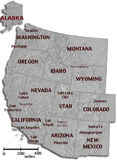 Map Us West map of usa regions by us census bureau jpg file usa