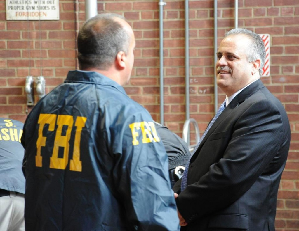 Acting Head Venizelos at gang arrests in Newburgh, N.Y./fbi photo