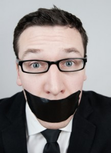 gagged journalist