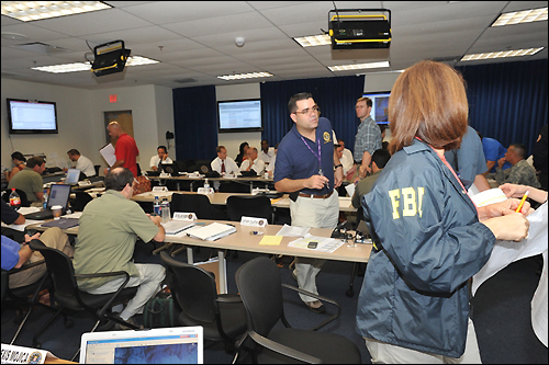 FBI San Juan Command Post was active Wednesday/fbi photo