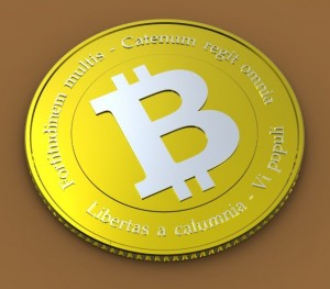 3-D model of a virtual bitcoin. Photo: Trader Tim/Flickr