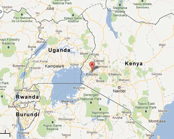 kenya africa map google