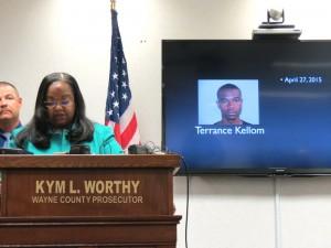 Wayne County Prosecutor Kym Worthy at press conference