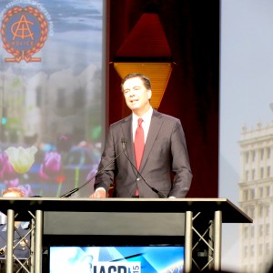 FBI Director James Comey in Chicago delivering speech at the International Association of Chiefs of Police. (ticklethewire.com photo)