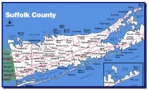 Suffolk County map.