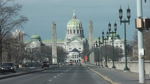 Harrisburg Capitol Building in Pennsylvania.