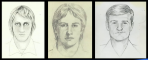 Renderings of the elusive serial killer.