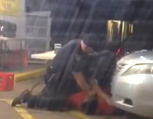 Screenshot of video of man killed by police.