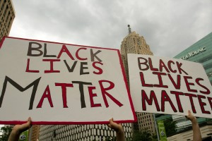 Protest in Detroit. Photo by Steve Neavling.