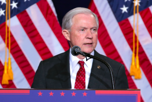 Attorney General Jeff Sessions during the Trump campaign.