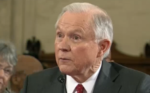 AG Jeff Sessions at his confirmation hearing.