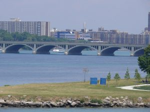 The McArthur Bridge on Belle Isle in Detroit.