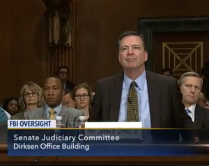 FBI Director James Comey appears Wednesday before the Senate.