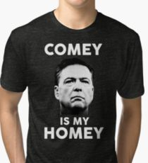 """Comey is my homey"" shirts have become popular after the FBI director's firing."