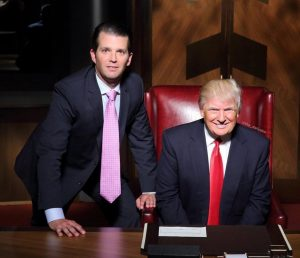 Donald Trump Jr. and his dad, President Trump, via Twitter