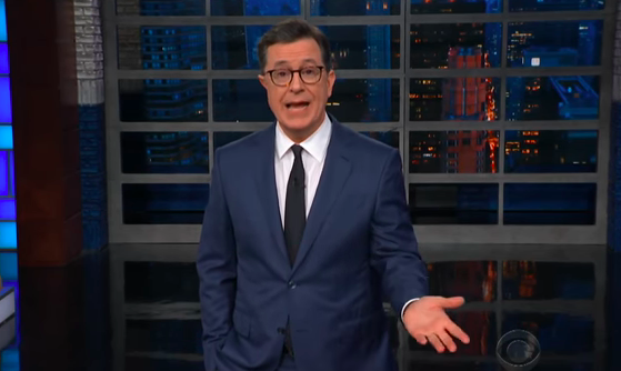 Stephen Colbert, Seeking 'Roseanne's Trump Bump, Calls CNN